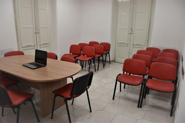 L'aula di formazione della sede di Via Correnti